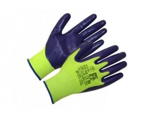 Нейлоновые бесшовные перчатки с нитриловым покрытием 13 класс