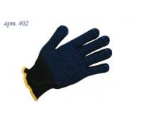Перчатки рабочие х/б с ПВХ 7 класс чёрные