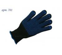 Перчатки вязанные трикотажные полушерстяные 7 класс, арт 701