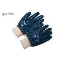 Перчатки нитриловые полный облив манжет резинкой